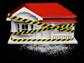 Condemned drug contaminated home concept New Zealand NZ villa ho Royalty Free Stock Photo