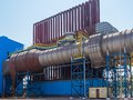Condenser one of the aggregation of electric steel plant of the new generation Stock Photos