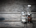 Condiment in glass for food Royalty Free Stock Photo