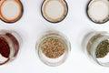 Condiments Jars Background