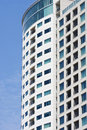 Condo Balconies and Windows on Blue Sky Royalty Free Stock Photo