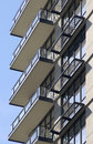Condo Tower Balconies Stock Photo