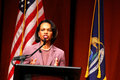 Condoleezza Rice at Michigan Royalty Free Stock Photo