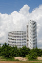 Condominium buildings under the blue sky Stock Photography