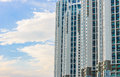 Condominium with clouds modern and blue sky background Royalty Free Stock Photography