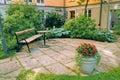 Condominium Courtyard Royalty Free Stock Photo