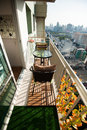 Condominium modern balcony in capital Stock Image