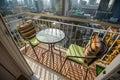 Condominium modern balcony in capital Royalty Free Stock Image