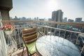 Condominium modern balcony in capital Stock Image