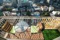 Condominium modern balcony in capital Royalty Free Stock Photo