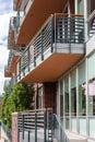 Condominiums contemporary in downtown denver colorado Stock Photography