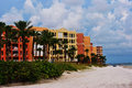 Condos beautiful on the beach Royalty Free Stock Images