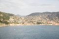 Condos and resort hotels on the south of france luxury coastal hillsides Royalty Free Stock Photo