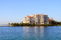 Condos on the water condominium complex south beach miami florida Stock Images