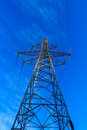 The conductive iron of electricity: a large tower Royalty Free Stock Photo