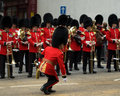 The conductor of the welsh guards band drops his baton Stock Photos