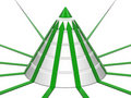Cone chart green-white with green arrows Royalty Free Stock Images