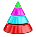 Cone chart image with clipping path Stock Photography