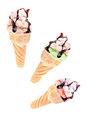 Cone With Icecream Royalty Free Stock Photo