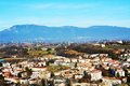 Conegliano city, view from the Castello on Colle di Giano Royalty Free Stock Photo