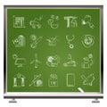 Ícones do portal do Internet e do Web site Fotografia de Stock Royalty Free