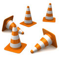 Cones do tráfego Foto de Stock Royalty Free