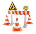 Cones orange road done in d Royalty Free Stock Photography