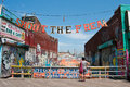 Coney Island Boardwalk Royalty Free Stock Photos