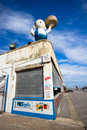 Coney island brooklyn ny feb landmark food concession on boardwalk in nyc on feb known as papa burger atop of paul s Stock Photos
