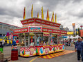 Confection booth at the the Calgary Stampede midway Royalty Free Stock Photo