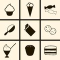 Confection icons set of on a theme Royalty Free Stock Photography