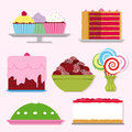 Confectionery cartoon collection Stock Photo