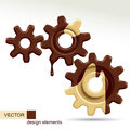 Confectionery gears raster version of vector image of three of different sizes there is in addition a vector format eps Royalty Free Stock Image