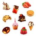 Confectionery, vector set
