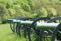 Confederate Cannons looking down at School Ridge North. Royalty Free Stock Photo