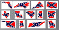 Confederate Flag Maps Royalty Free Stock Photo