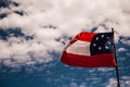 Confederate flag of the states of america Royalty Free Stock Photo