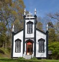 Confederate memorial chapel this is a spring picture of sacred heart roman catholic church also known as the is located in port Royalty Free Stock Photography