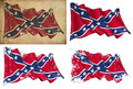 Confederate Rebel Historic flag Stock Images