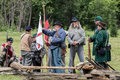 Confederate Soldiers Preparing for action Royalty Free Stock Photo