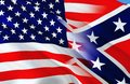 Confederate States of America flag. Historical national flag of the Confederate States of America. Known as Confederate Battle, Royalty Free Stock Photo