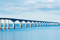 Confederation bridge linking the provinces of nb and pei Royalty Free Stock Images