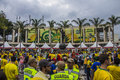 Confederations cup brazil x spain maracanã final rio de janeiro fans going to the stadium Royalty Free Stock Photos