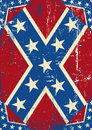 Confederatre grunge background a confederate poster for you Royalty Free Stock Image