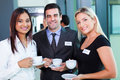 Conference coffee break group of business people having during business Royalty Free Stock Photography