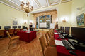 Conference hall orlikov in hotel hilton leningradskaya moscow nov november moscow russia room is ideal for small Royalty Free Stock Photography