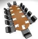 Conference table Stock Image