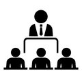 Conference vector icon isolated on white Stock Image