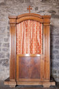 Confessional in old church in vernazza the italian village of cinque terre Royalty Free Stock Images