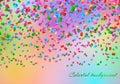 Confetti in the air backdrop